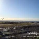 Vistas desde nuestra ruta de los caminos y nuevas zonas de expansión de Guadalajara al otro lado de la A-2