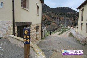 Comienzo de la subida a las Tetas de Viana desde Viana de Mondéjar
