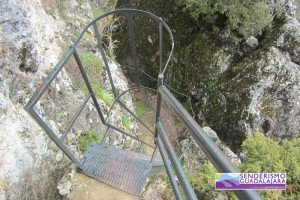 Esta escalera es una de las cosas más divertidas de la ruta. ¡Te lleva a la cima!