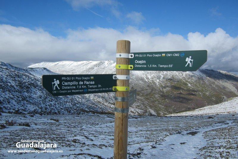 senderismo_guadalajara_poste_senalizacion_camino_bajada_ocejon