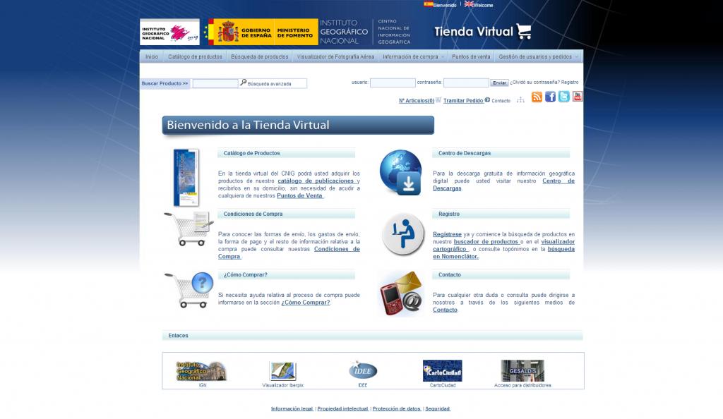 Tienda Virtual - CNIG