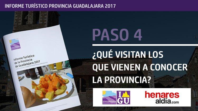 Informe Turístico de la Provincia de Guadalajara 2017, disponible online y en PDF