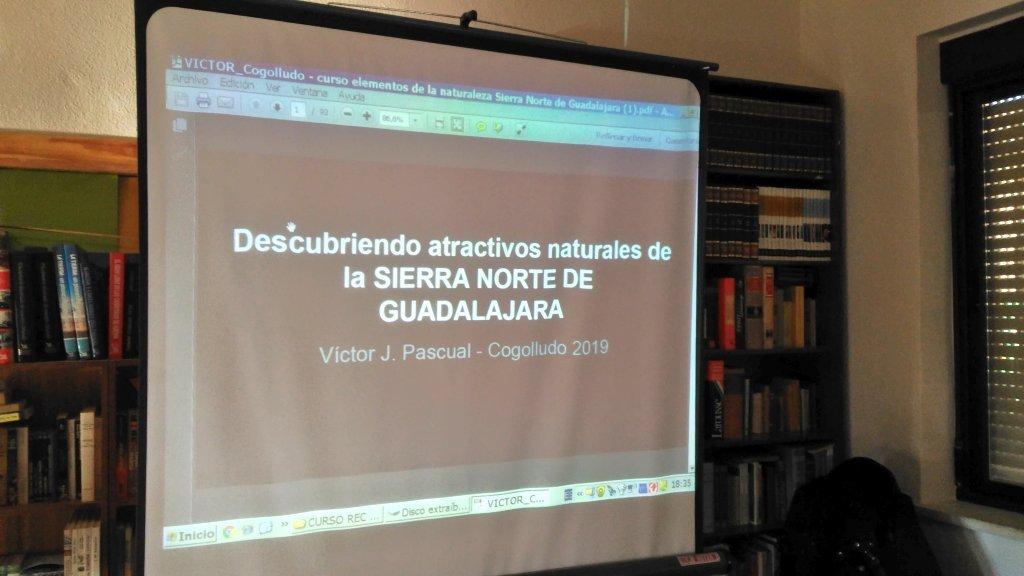 Senderismoguadalajara.es ha participado en el curso de Espacios Naturales de la Sierra Norte de Guadalajara