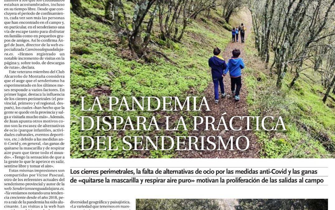 Reportaje sobre el senderismo en la provincia de Guadalajara en La Tribuna