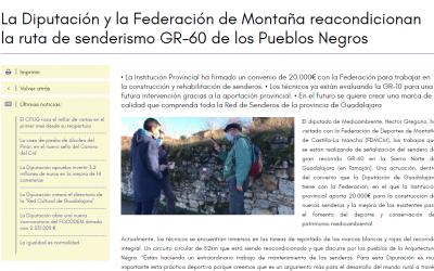 Corren buenos vientos para el senderismo en la provincia de Guadalajara