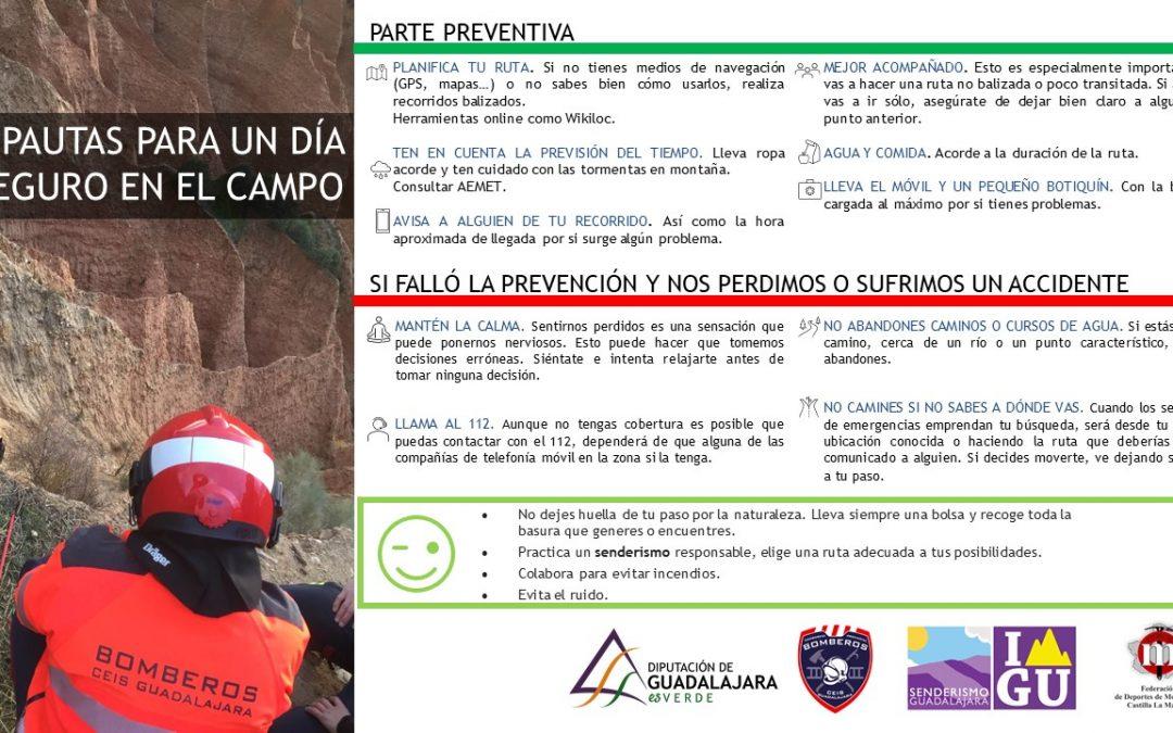 Pautas para un día seguro en el campo – colaboración con CEIS Guadalajara