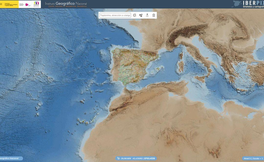 El visor de mapas IBERPIX lanza su nueva versión, la 5.0