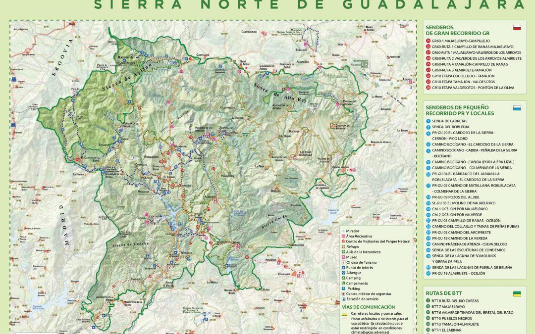 Nuevo mapa de rutas senderistas y ciclistas de la Sierra Norte de Guadalajara
